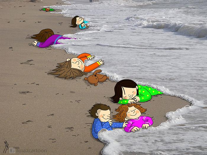 syrian-boy-drowned-mediterranean-tragedy-artists-respond-aylan-kurdi-2__700