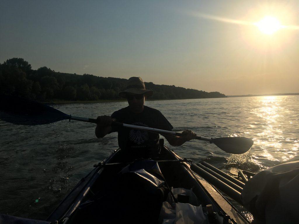 Cristian paddling
