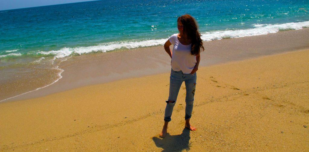 Christine on beach front