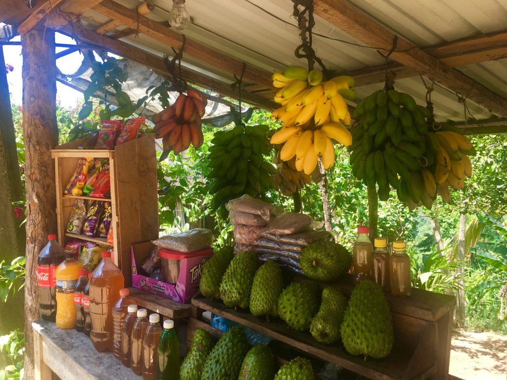 Roadside stand with honey