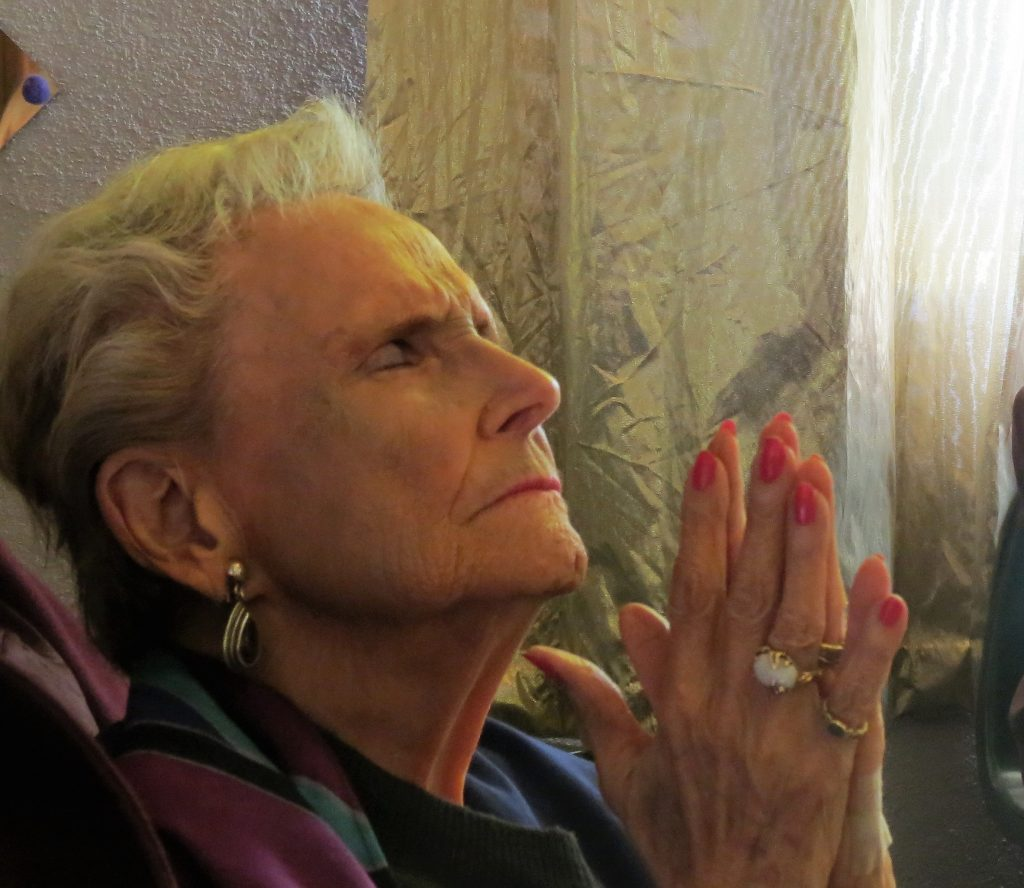 Nana in prayer.JPG